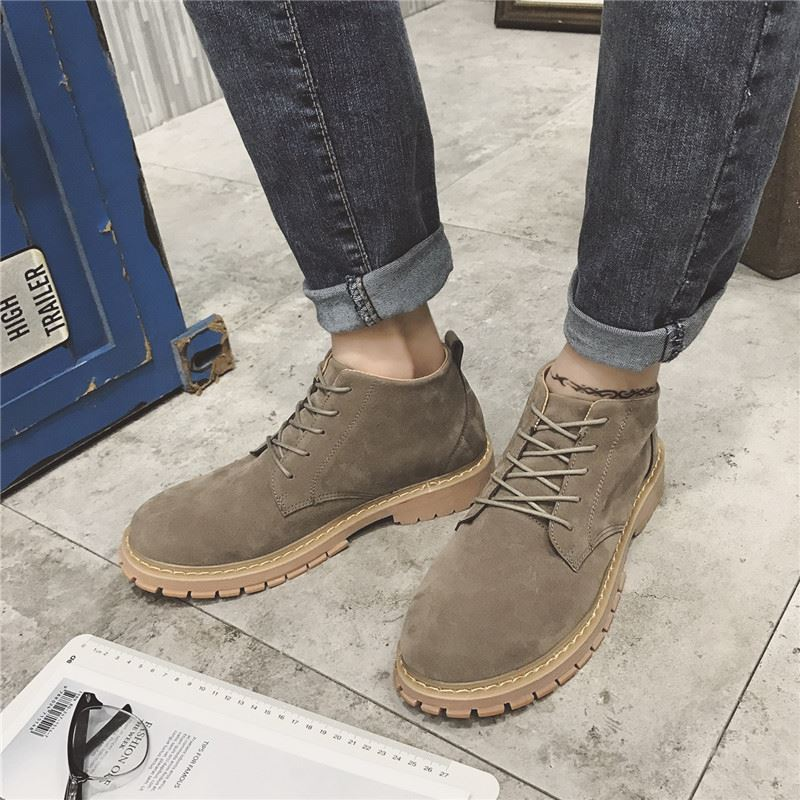 Martin boots retro British style low top boots autumn and winter Short Boots Mens shoes desert tooling Boots Mens shoes