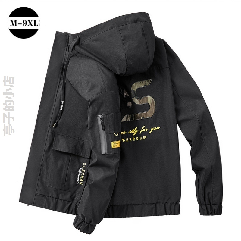 Plus fat guy jacket 240kg mens coat young and middle-aged oversized sportswear 7XL Baseball Jacket Korean version
