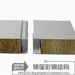 彩钢岩棉夹芯板 非泡沫防火夹心板a级活动房厂家直销 活动岩棉板
