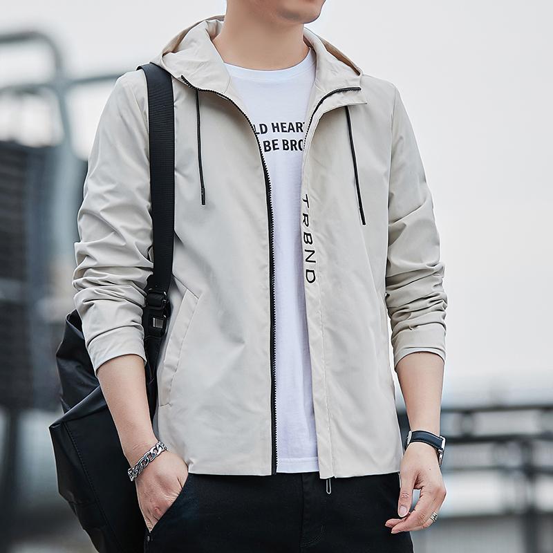 男士外套新款春秋季韩版潮流男装连帽时尚男百搭青年休闲夹克外套