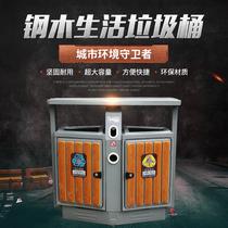 方垃圾箱梯形車廂可卸式垃圾桶3立方戶外鉤臂垃圾箱3中聯垃圾箱