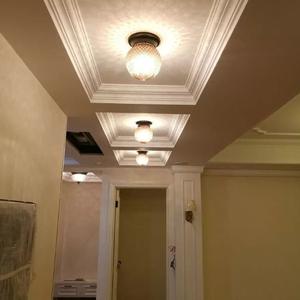 欧式吸顶灯卧室灯阳台过道门厅灯美式吸顶灯铁艺门厅走廊菠萝灯