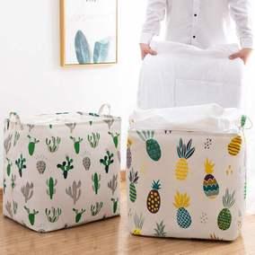 加厚棉麻收纳袋棉被整理箱帆布袋子
