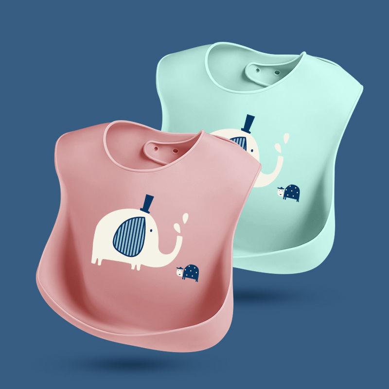 吃饭围兜宝宝硅胶饭兜防水婴幼儿立体围嘴超软儿童小孩大号免洗
