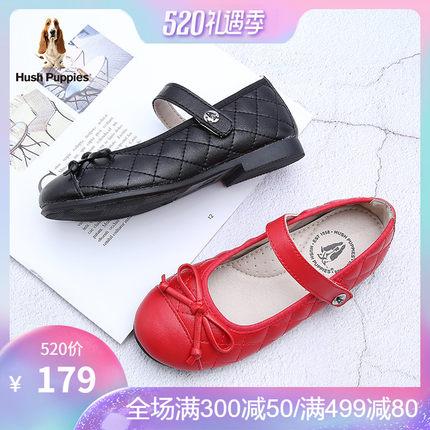 暇步士儿童2019春季新款女童黑色小皮鞋英伦风公主鞋大童软底单鞋
