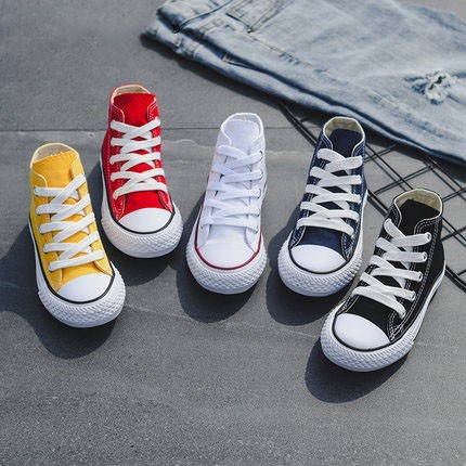 Girls pure white shoes light shoes autumn high top color summer childrens board childrens color autumn childrens small womens middle canvas shoes