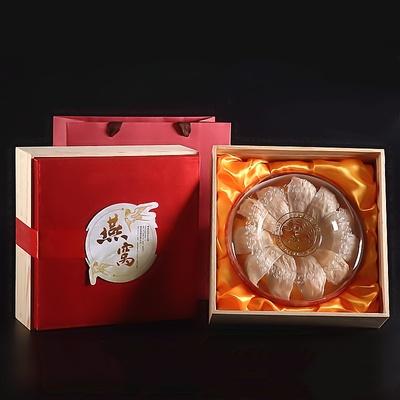 包邮松木燕窝包装盒250克礼品盒装燕窝礼盒高档木盒燕窝盒子空盒.