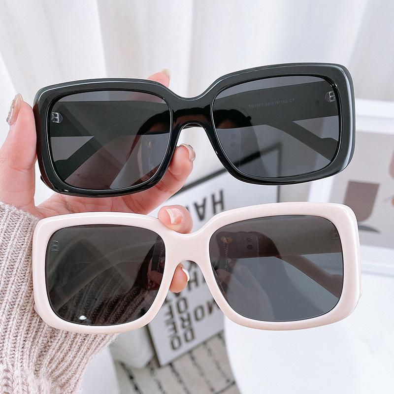 中國代購 中國批發-ibuy99 太阳镜 墨镜2021新款潮复古港风高级感显脸小女款时尚大圆脸适合的太阳镜