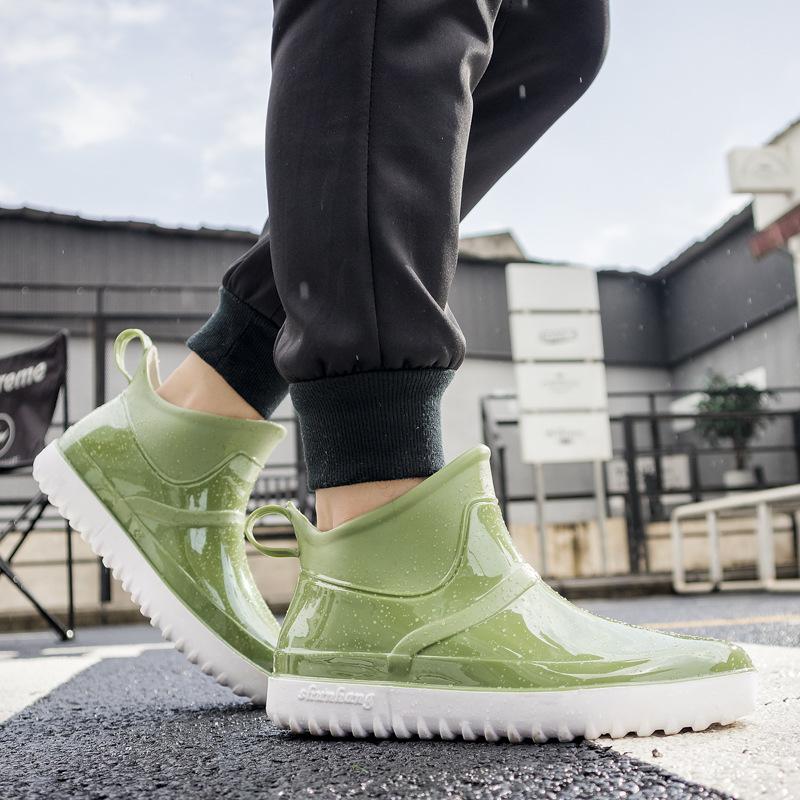 中國代購|中國批發-ibuy99|雨鞋|雨靴网红同款雨鞋夏天男士短款女士轻便时尚款外穿漂亮防滑胶鞋