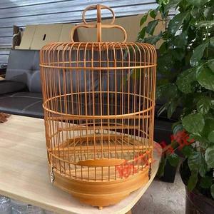 新品水鸫笼杂雀笼杂雀笼清远笼金青石燕绣眼芙蓉竹制广式鸟笼