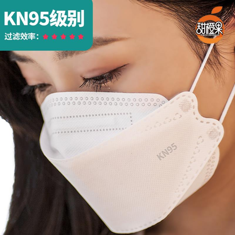 White N95 mask kn95 protection disposable 3D KF Korea 94 fish mouth willow leaf fashion net red girl