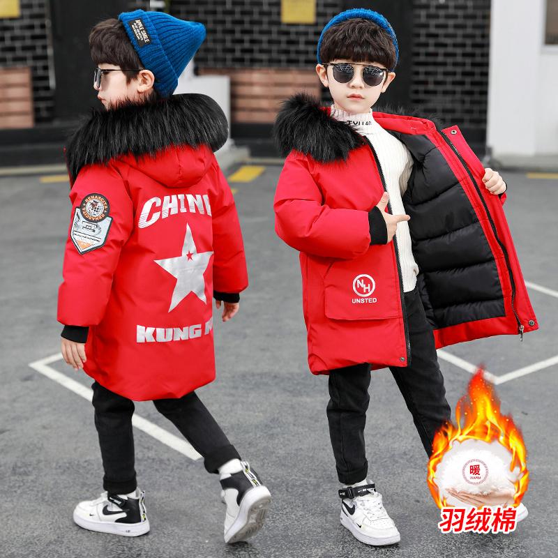 男童冬装棉服男孩中大童儿童洋气羽绒棉衣加厚袄子韩版外套衣服潮