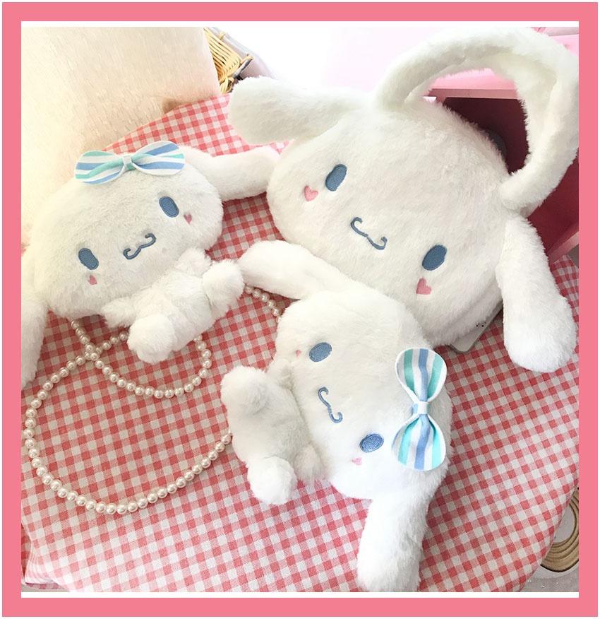 Yuguigou bag Lolita bag girl big ear cute plush new portable Japanese bag sanliou