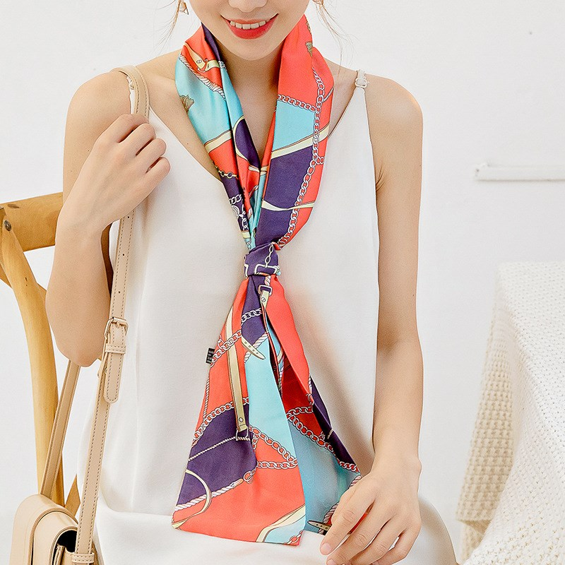 Collar Long Necklace neckline accessories summer hang Korean bow tie floral scarves womens clothing accessories new Hang