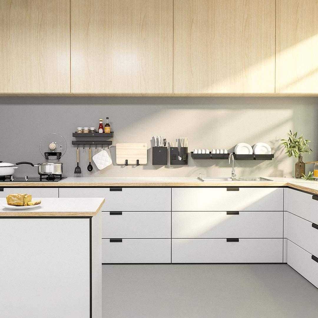 正品diiib大白 厨房五金件挂件调料调味刀架置物架太空铝多功能收