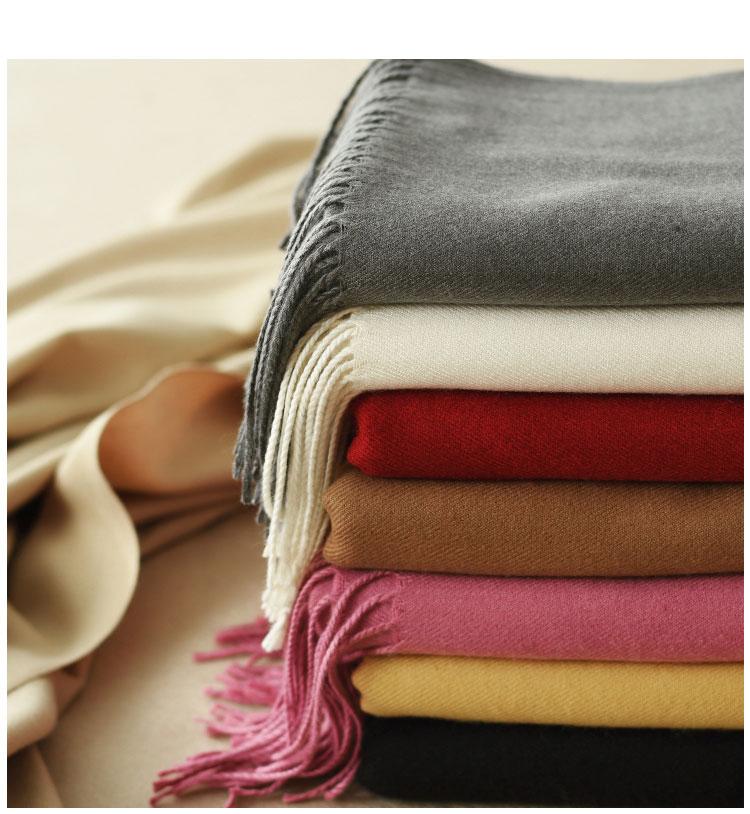 [12.12抢先购]新款长款大围巾100%柔软长款简约围脖毛线保暖加厚
