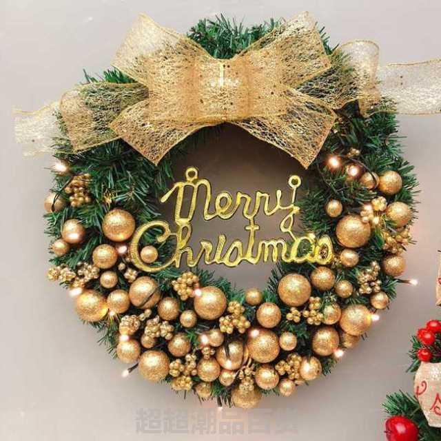圣诞节装饰品圣诞花环门挂圣诞用品场景布置饰品礼品圣诞树装饰。