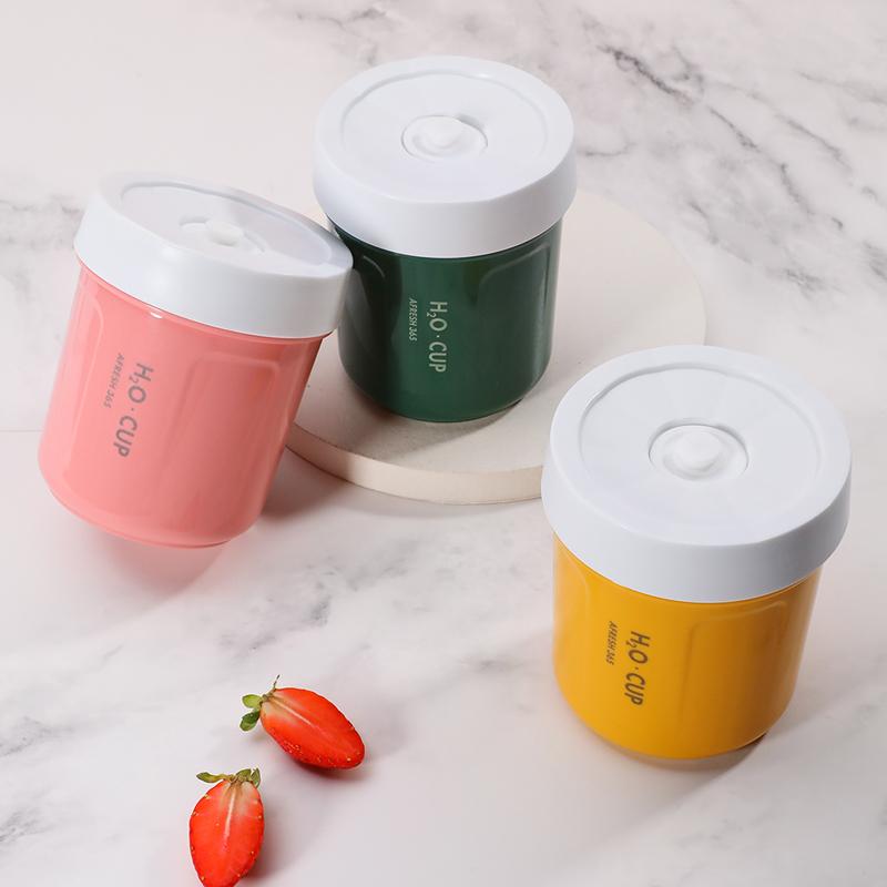 日式汤杯学生上班族便携微波加热专用汤壶早餐带粥杯饭盒密封带盖