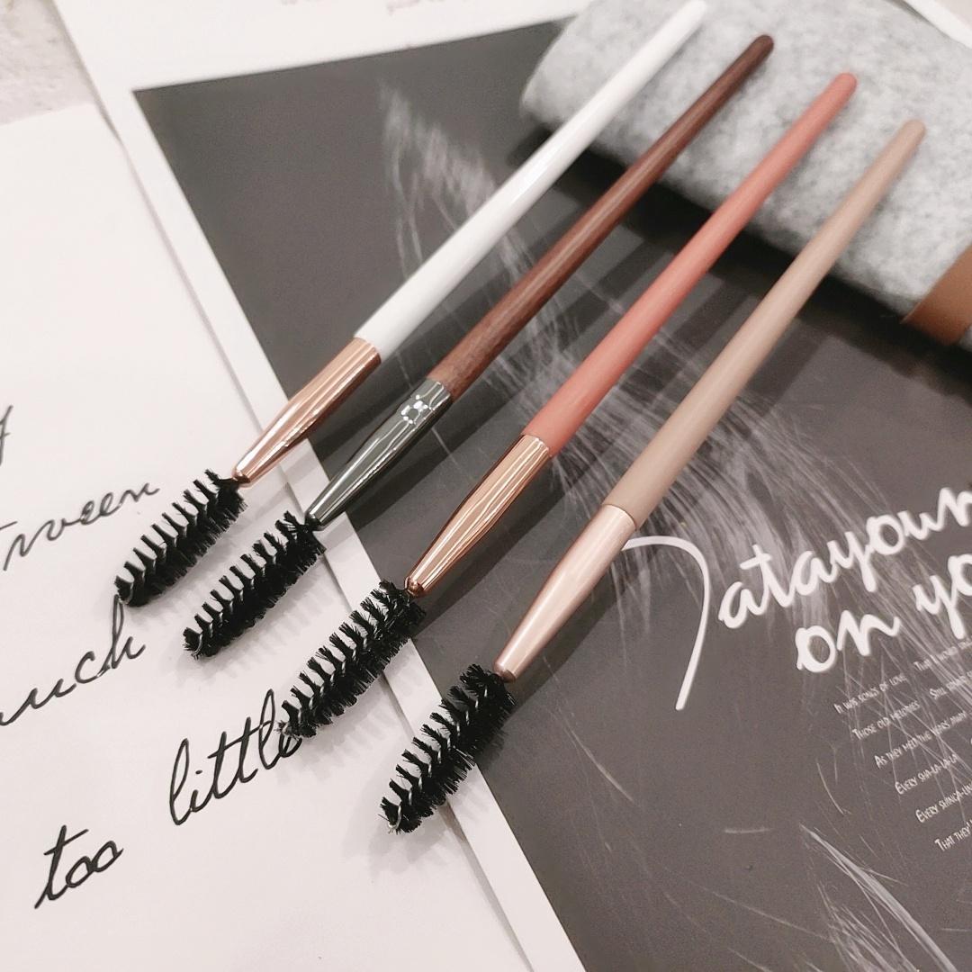 Beautiful brush curling brush eyelash shaping Curved Brush spiral eyebrow brush eyebrow pink comb spiral eyebrow
