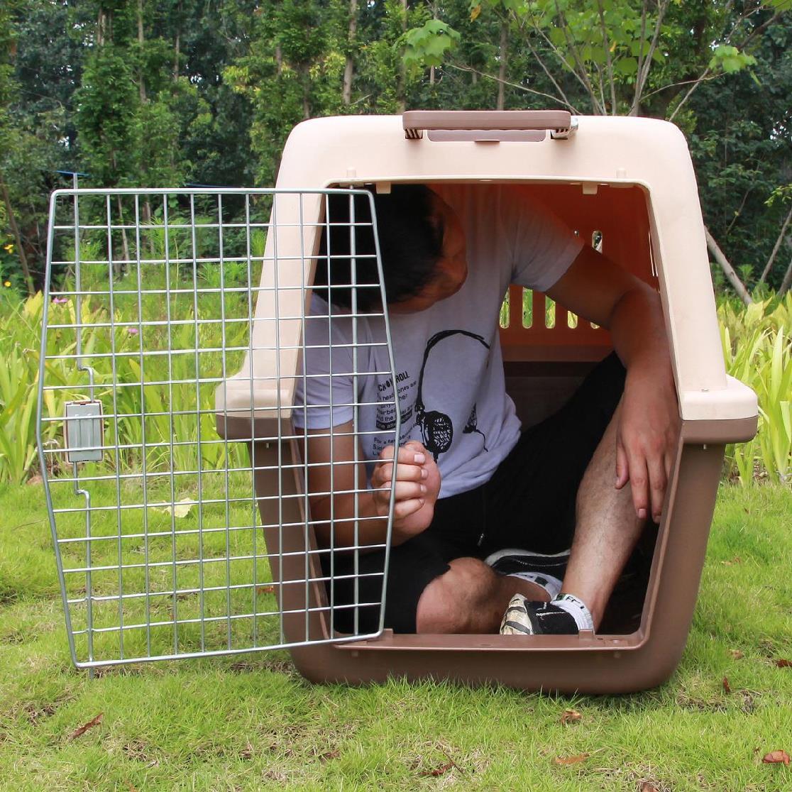 宠物运输箱航空猫狗笼托运携带包空运箱托运箱万向轮大号中型新款