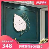 輕奢簡約藝術掛鐘家用客廳現代創意鐘表掛墻時尚個姓大氣北歐時鐘