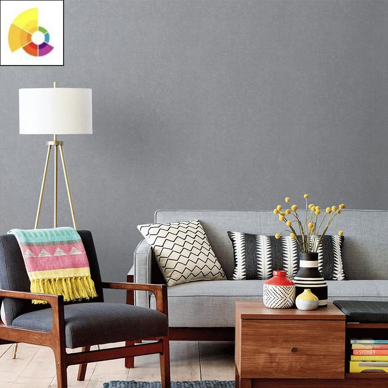 高级灰墙布无缝全屋高档壁布轻奢风客厅现代简约家用卧室背景墙。
