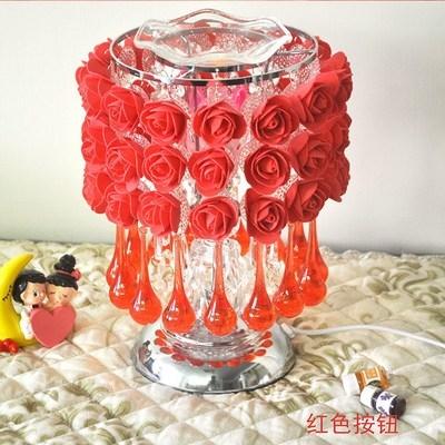 现代玫瑰花台灯卧室喂奶装饰结婚台灯香薰床头礼物灯台灯。。