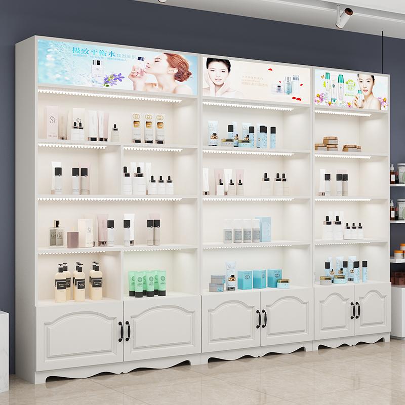 化妆品展示柜美甲柜子美容院货架母婴店展示架美发产品陈列柜货柜