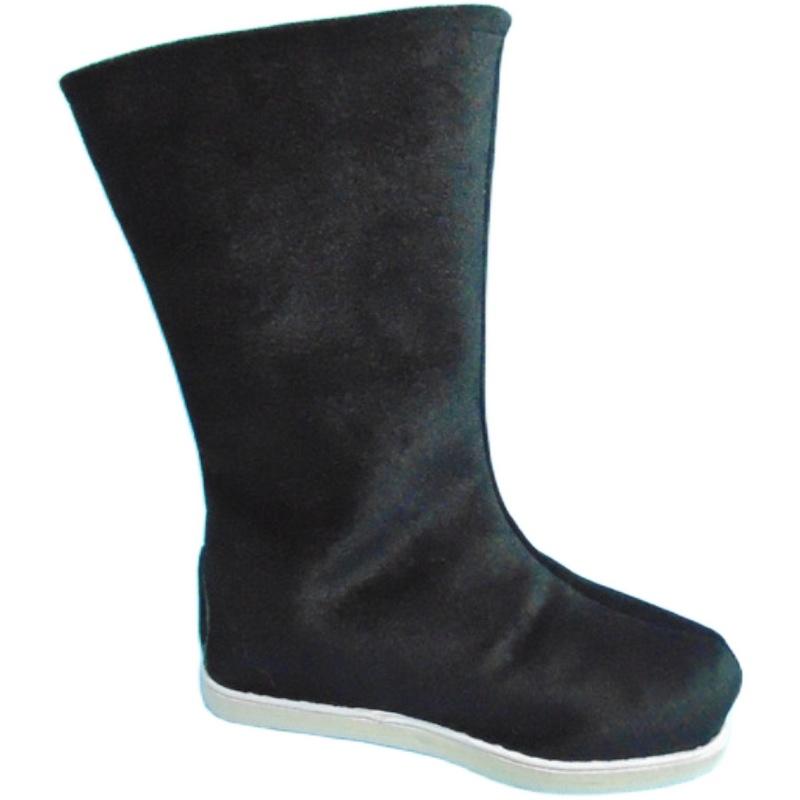 男童汉服靴子男童汉服配鞋古装女童儿童布靴舞台戏曲男靴戏剧古。