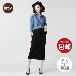 诚衣 牛仔长袖衬衫女纯棉丹宁衬衣水洗产品上衣秋季新款女装
