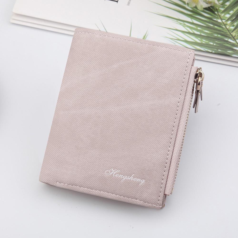 New wallet womens short retro canvas pattern multifunctional two fold buckle double zipper zero wallet
