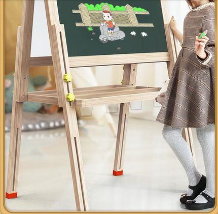 无式七巧板小宝宝儿童家用尘黑支架板墙写字磁性画画板板画架双面