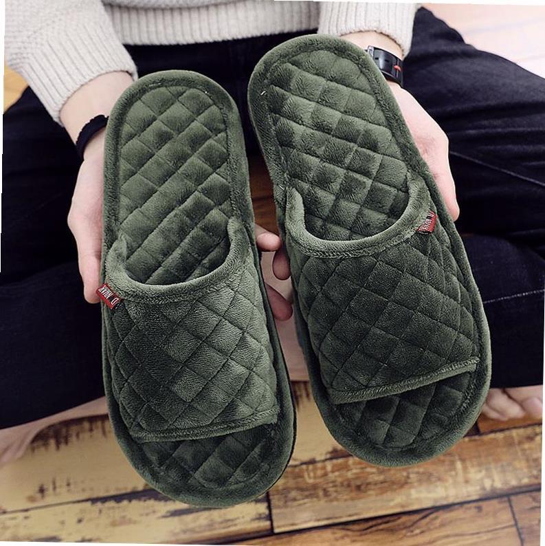 绵拖鞋新款式特价中水晶绒毛毛布底拖鞋室内家用静音不伤地板情侣