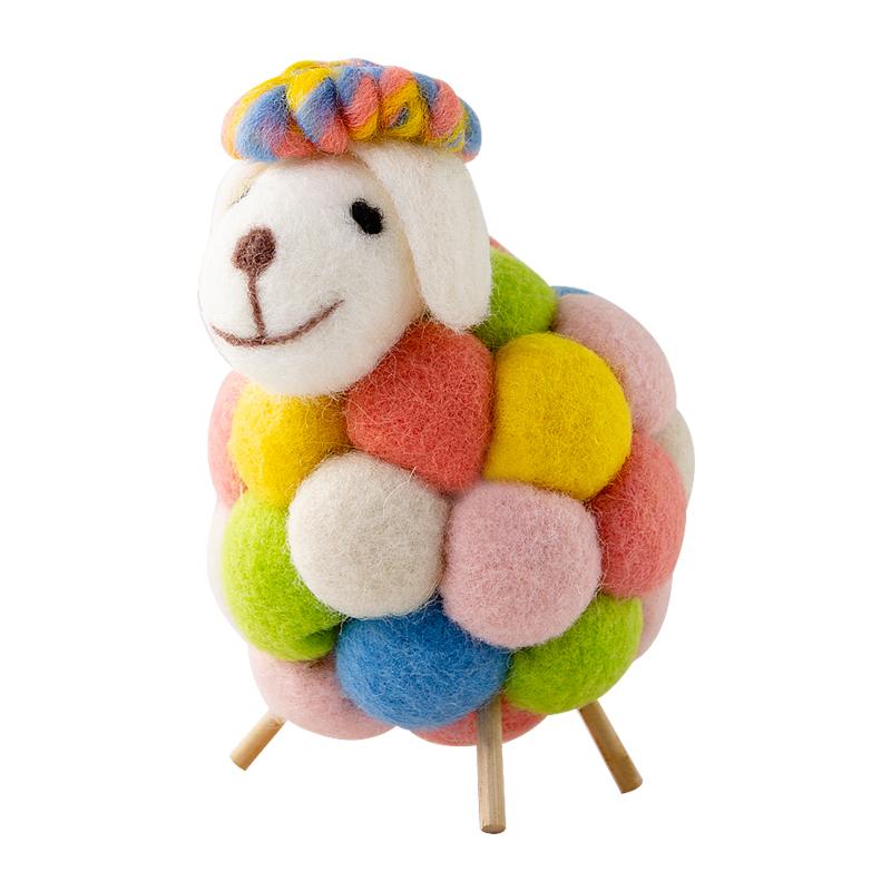 意家居可爱的小饰品羊毛毡摆件女生卧室儿童房间装饰品桌面摆。