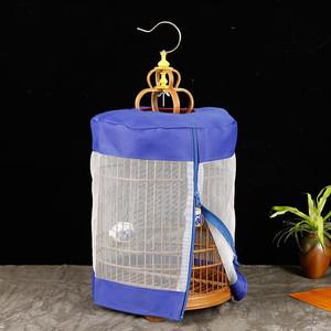鸟笼鸟笼黄雀新品紫竹圆笼玉麻料笼笼芙蓉鸟笼珍珠金丝雀金青鸟。