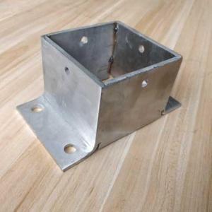 防腐木柱子底座立柱脚套葡萄架固定铁镀锌立柱底座套筒连接件脚套