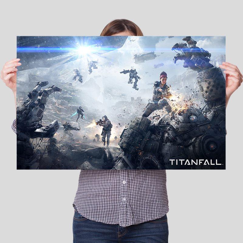 泰坦陨落2电子游戏Titanfall海报墙贴装饰电竞网吧咖壁画宿舍卧室