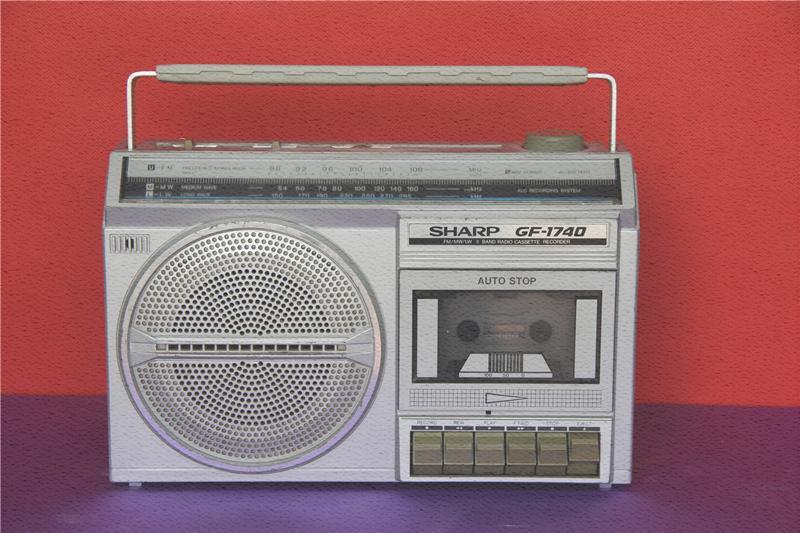 日本二手 夏普GF-1740收录机  收音机机 单卡磁带机录音机