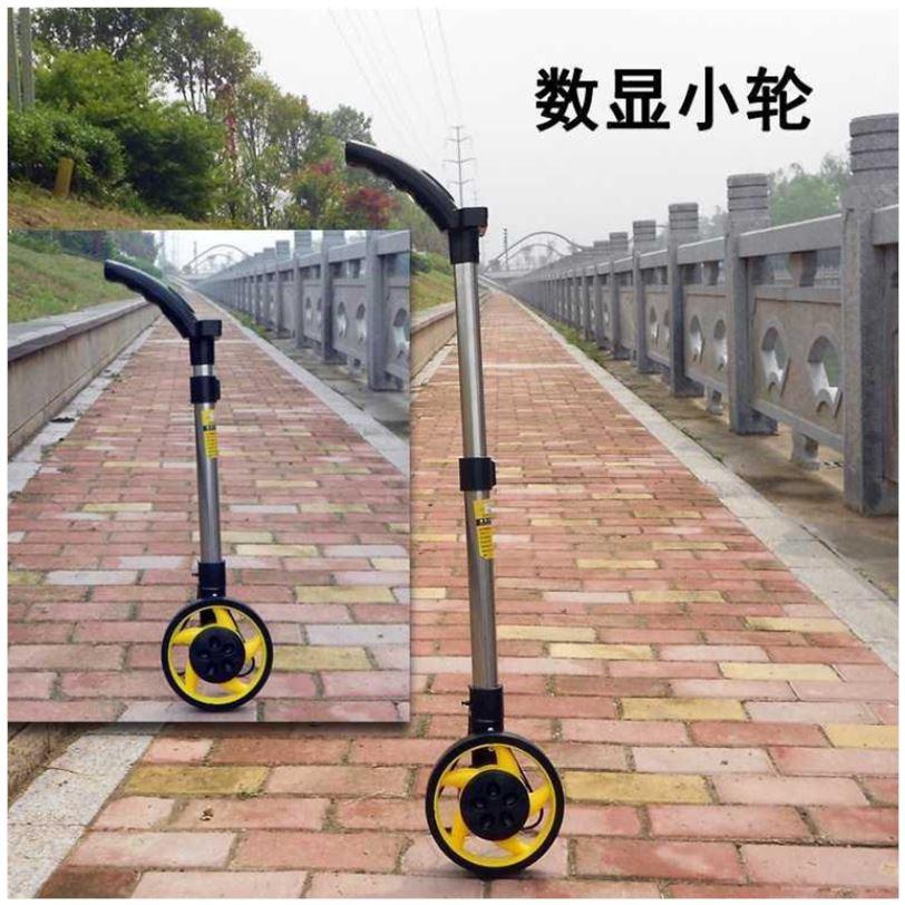 仪器距离小车轮测量轮滚尺测量仪测机械数显尺手推轮距式测距仪。