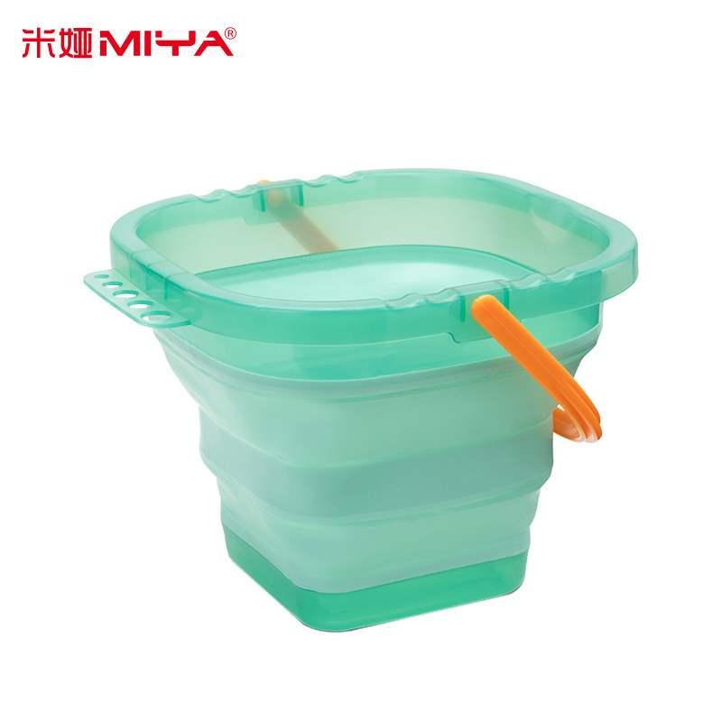 儿童多功能颜料米娅洗笔桶画画专用工具可折叠伸缩硅胶大号水桶。