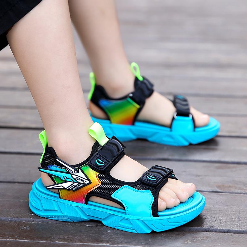 男凉鞋2021年新款夏季中大童软底防滑沙滩鞋潮男孩鞋子小孩