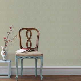 中式复古无纺布客厅电视背景墙纸
