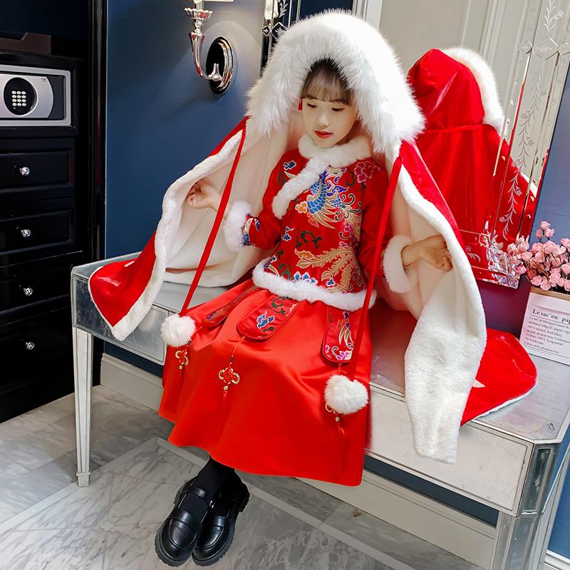 2020中国风拜年服汉服冬季棉袄加厚保暖唐装新年衣服秋冬装