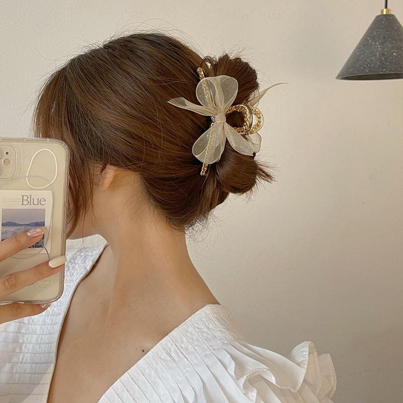 特大号抓夹发量多大架子头发抓夹厚头发夹适合发量少丸子头短发