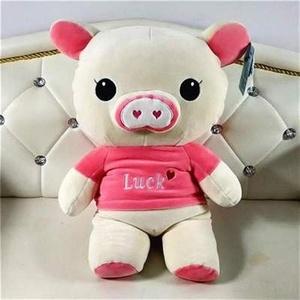 2021幸运猪公仔可爱猪毛绒玩具棉小猪布娃娃抓机娃娃新品。