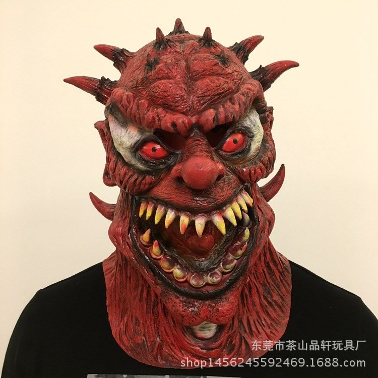 Halloween Horror mutant monster mask film and television role play dress up scary devil head set props.