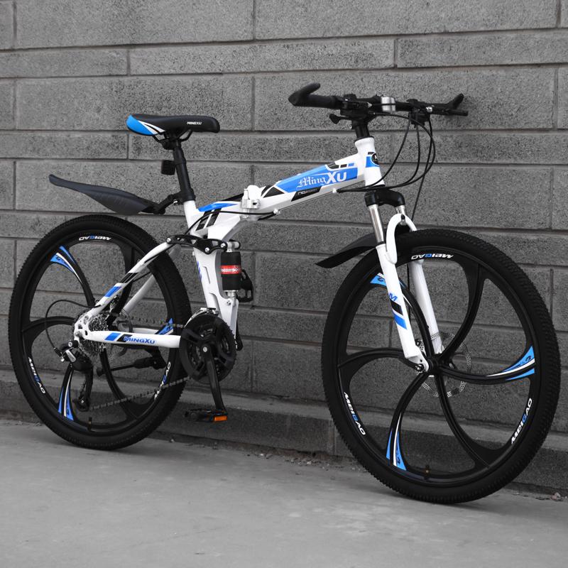 公路赛车休闲折叠车大人轻便通勤自行车男山地车男孩越野单车学。