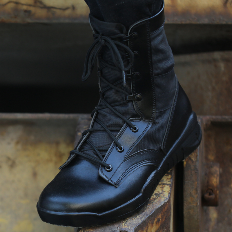 Outdoor breathable mens and womens lightweight American combat boots army fan boots CQB high top Martin boots special forces tactical boots