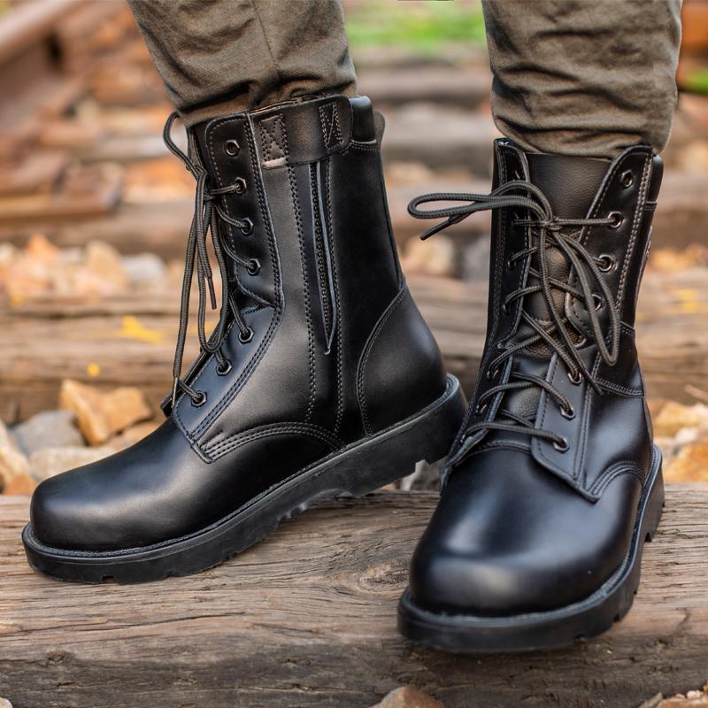 正品高帮靴子棉鞋加绒男士羊毛保暖高帮防水户外钢头钢底飞鹰防滑