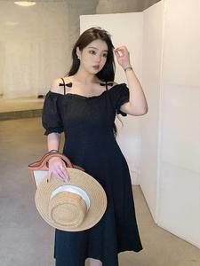 rs肉卷大码女装减龄连衣裙显瘦裙子